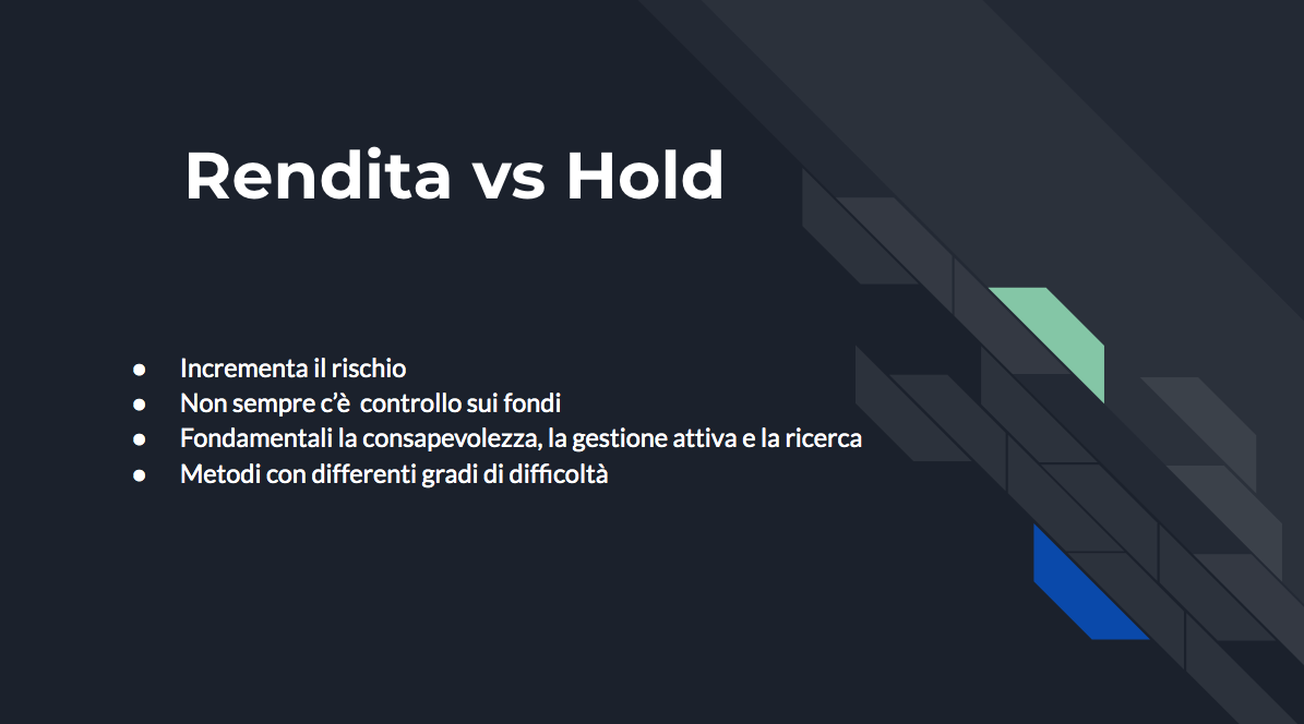 Come mettere a rendita le cryptovalute: guida completa. rendita vs hold